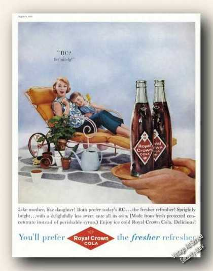 Royal Crown Cola Mother Daughter Photo Soda (1959)