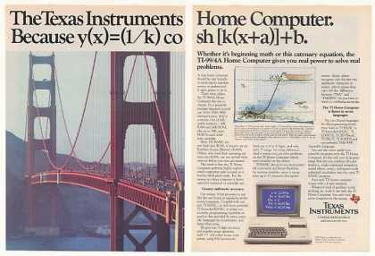 TI-99/4A Home Computer Golden Gate Bridge (1983)