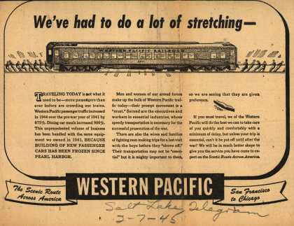 Western Pacific's Troop and Essential Transportation – We've had to do a lot of stretching (1945)