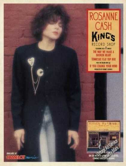 Rosanne Cash Photo King's Record Shop Album (1988)