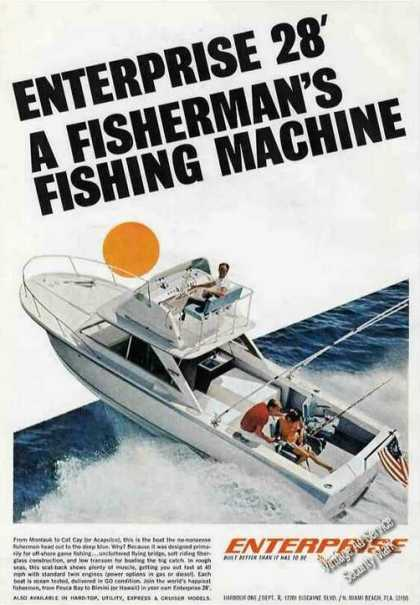 "Enterprise 28' ""A Fisherman's Fishing Machine"" (1966)"
