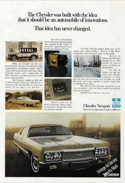 "Chrysler Newport ""Automobile of Innovations"" (1973)"