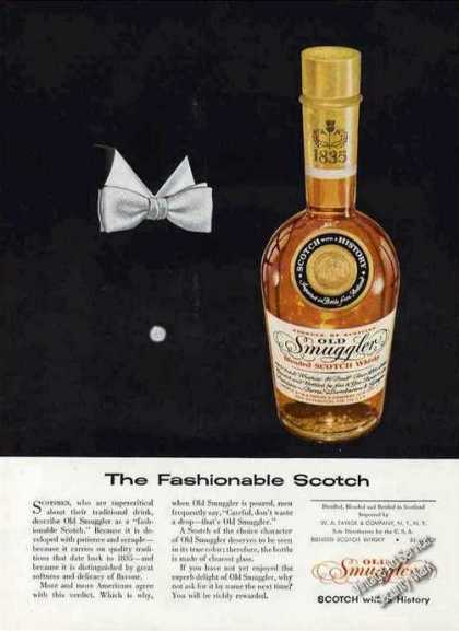 "Old Smuggler ""The Fashionable Scotch"" Clever (1957)"