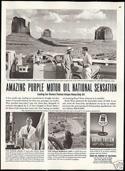 Arizona Utah Monument Valley Royal Triton Oil (1951)
