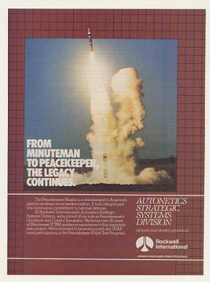 Rockwell Peacekeeper Missile Launch Photo (1983)