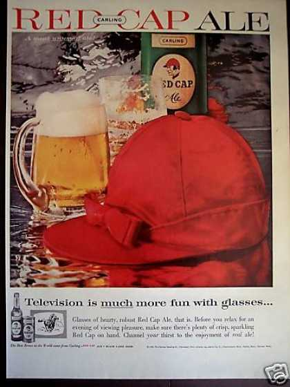 Carling Red Cap Ale Hat Photo (1959)