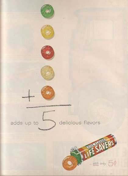Lifesaver's Five Flavor Roll of Candy (1961)