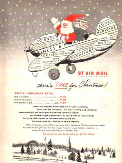 Time Magazine Subscription – Santa Claus – Sold (1948)