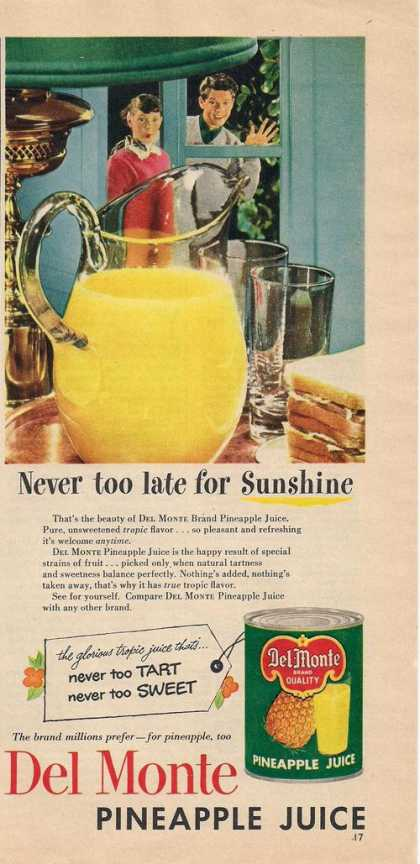 Del Monte Pineapple Juice (1953)