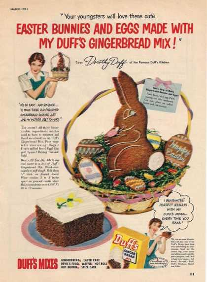 Duffs Ginger Bread Mix (1951)