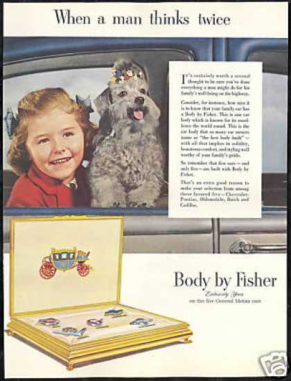 Silver Poodle Photo GM Body By Fisher Vintage (1952)