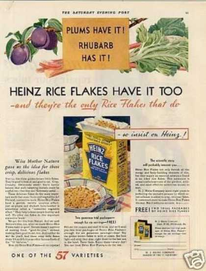 Heinz Rice Flakes Cereal (1931)