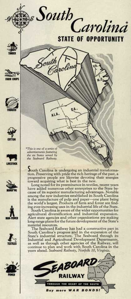 Seaboard Railway's South Carolina – South Carolina, State of Opportunity (1944)
