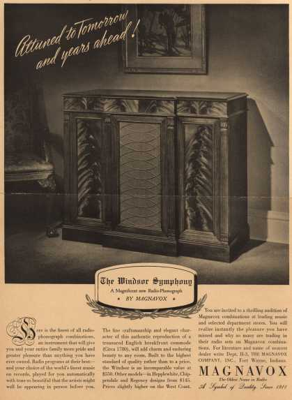 Magnavox Company's Radio – Returned to tomorrow and years ahead (1939)