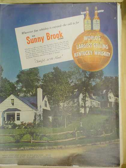 Sunny Brook Kentucky Whiskey (1953)