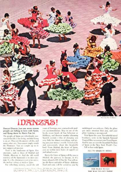 Iberia Airlines Spain Dancing Sevillanas Dance (1964)