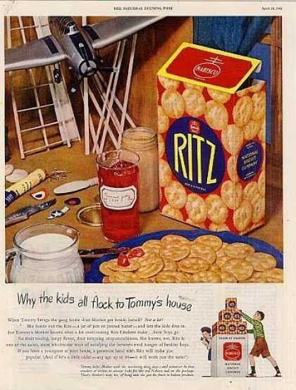 "Ritz Crackers Ad ""Why the Kids... (1945)"