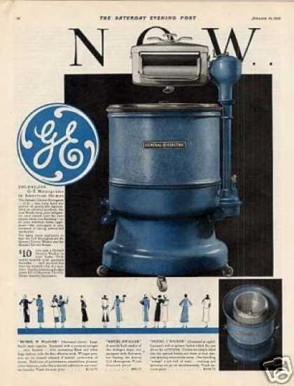 General Electric Washer Color Ad 2 Page (1931)