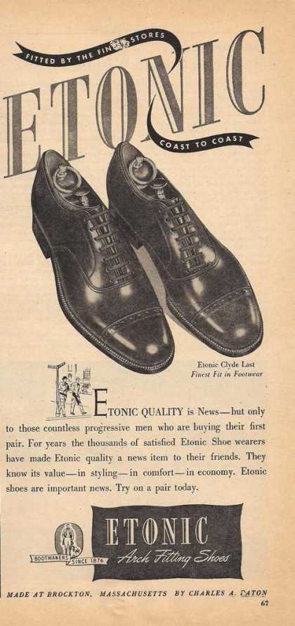 Etonic Mens Arch Fitting Dress Shoes (1947)