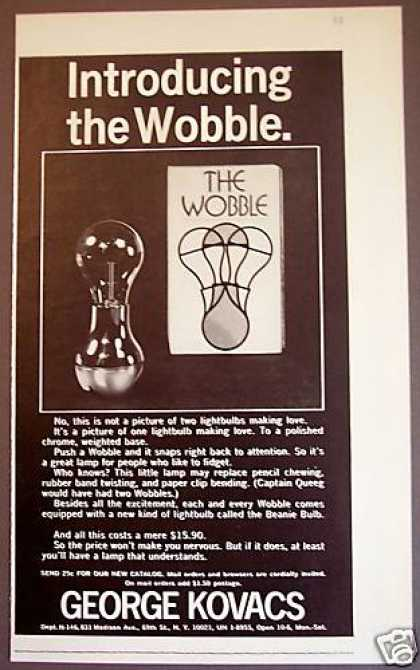The Beanie Bulb Wobble Lamp George Kovacs (1971)