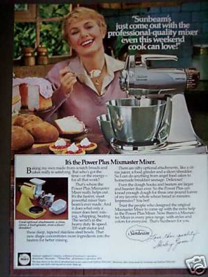 Shirley Jones Photo Sunbeam Mixmaster Mixer (1979)