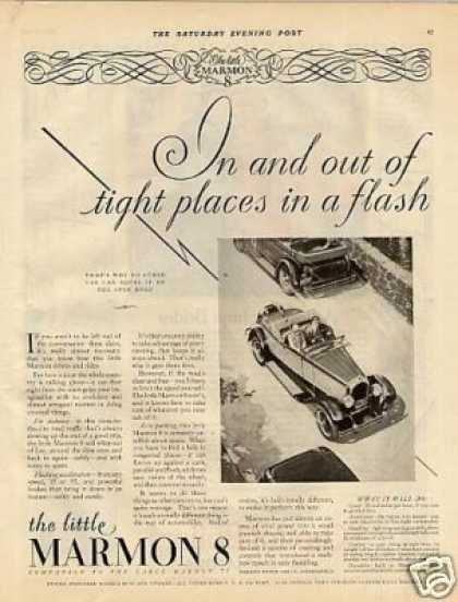 "Marmon 8 Car Ad ""In and Out Of... (1927)"