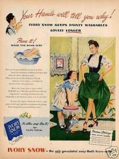 Ivory Snow Soap Flakes (1948)