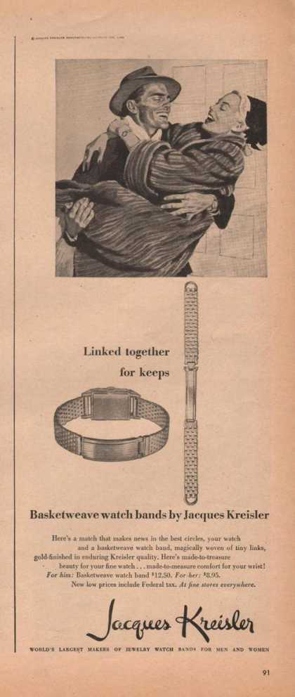Jacques Kreisler Watch Band Basketweav (1946)