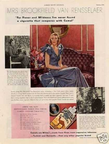 Camel Cigarettes Ad Mrs. Bookfield Van Rensselaer (1935)