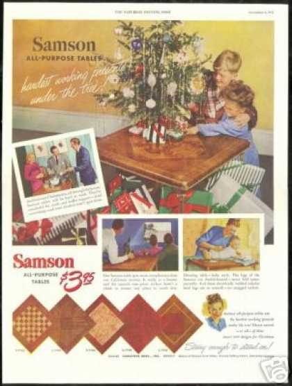 Samson Asst All Purpose Tables Christmas Tree (1947)
