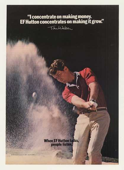 Golfer Tom Watson EF Hutton Photo (1982)