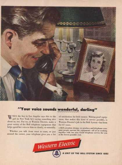 Wonderful Darling Western Electric (1949)