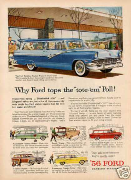 Ford Wagons Ad 6 Models (1956)
