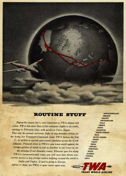 Trans World Airline's International Travel on TWA – Routine Stuff (1945)