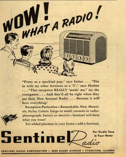 Sentinel Radio Corporation's Radio – Wow! What a Radio (1945)