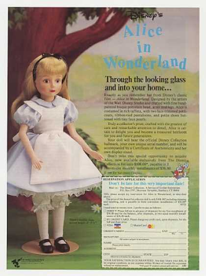 Disney Alice in Wonderland Doll Photo (1988)