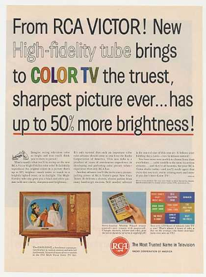 RCA Victor High-Fidelity Tube Chalfont Color TV (1961)
