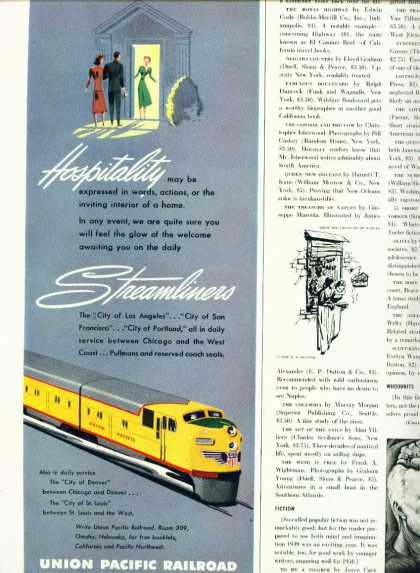Union Pacific Railroad C 1/2 Page Ad Streamline (1948)