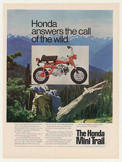 Honda Mini Trail Motorcycle Answer Call of Wild (1969)