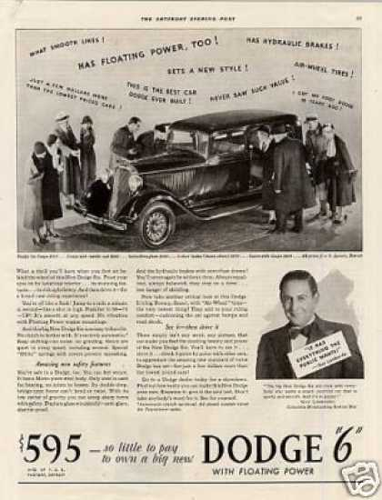 Dodge Salon Brougham 4-door Sedan Ad 2 Page (1933)