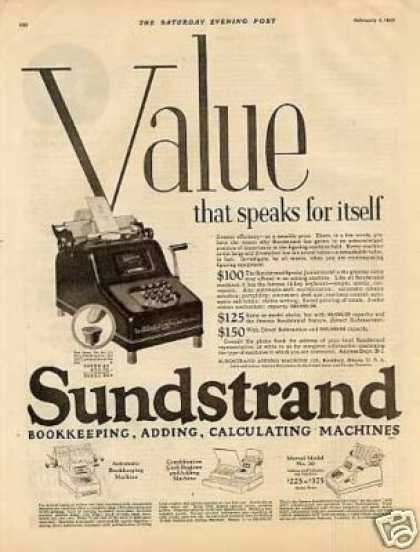 Sundstrand Calculating Machine (1926)