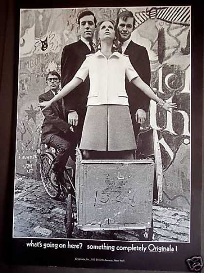 Originala Fashion Woman In Bicycle Cart Photo (1967)