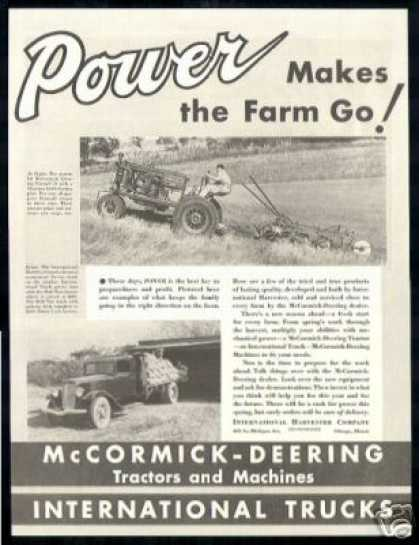 McCormick Deering Tractor International Truck (1936)