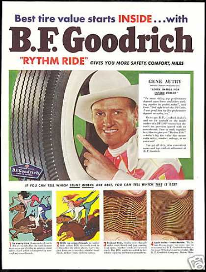 Gene Autry Cowboy Photo BF Goodrich Tire (1950)