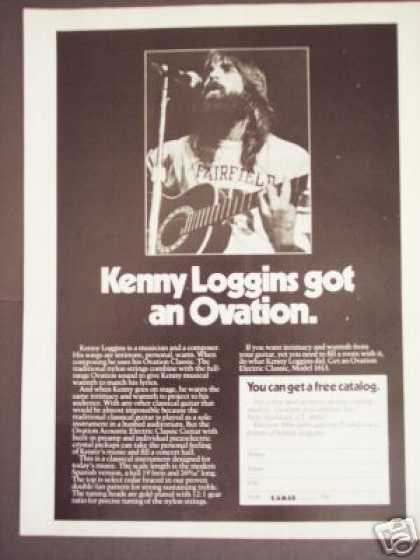 Kenny Loggins Ovation Acoustic Electric Guitar (1976)