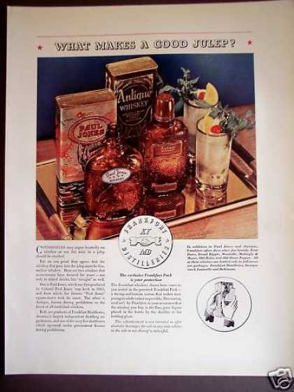 Paul Jones Whisky & Antique Whisky Makes Julep (1934)