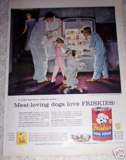 Friskies Dog Food Art (1956)