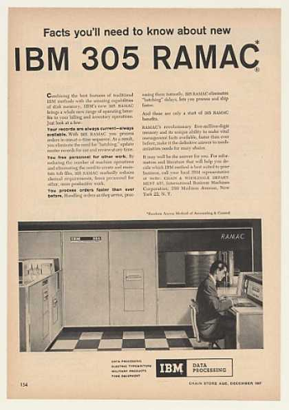 IBM 305 RAMAC Data Processing Computer (1957)