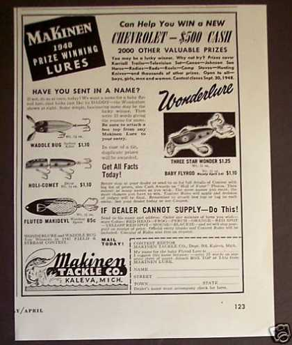 Makinen Fishing Tackle Lures Wonderlure (1948)