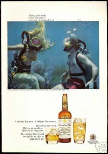 Scuba Divers Photo Canadian Club Whisky (1967)